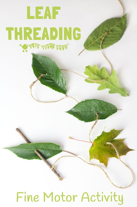 Garden Themed First Birthday Party Game threading leaves