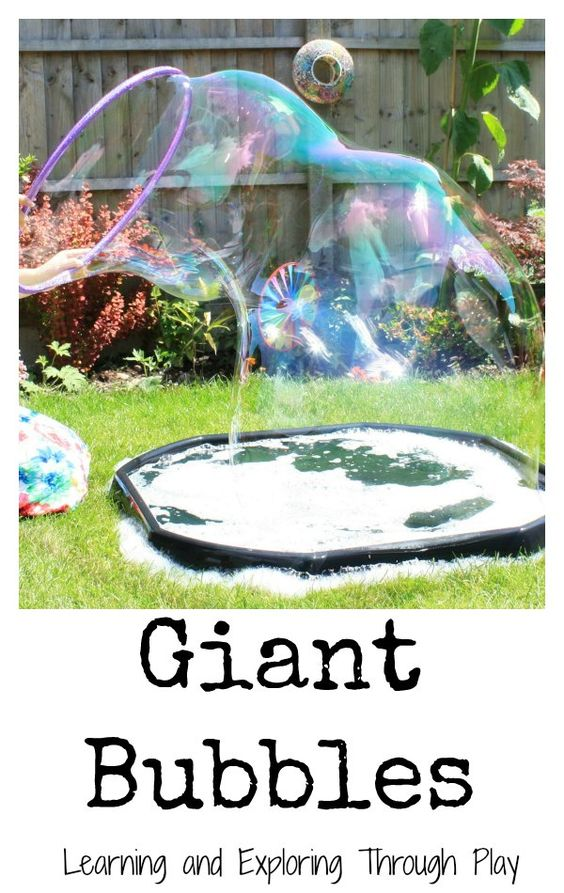 Garden Themed First Birthday Party Game giant bubbles