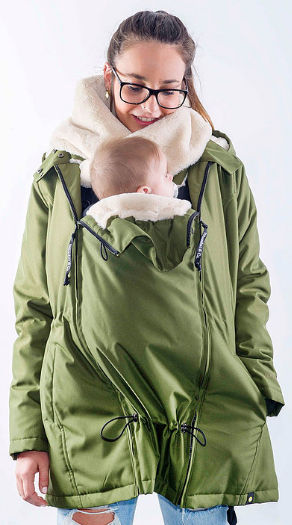 baby wearing jacket wallaby