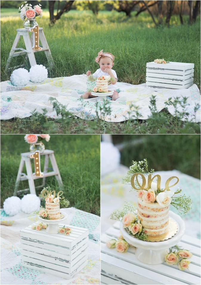 cake smash first birthday garden party
