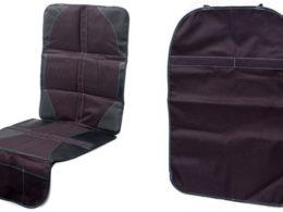 car seat protector kick mat bundle