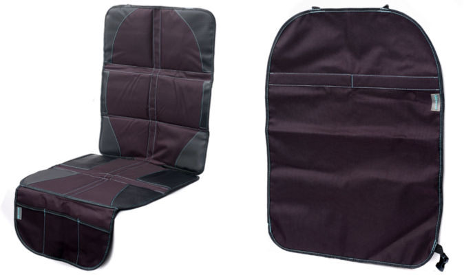 car seat protector kick mat bundle