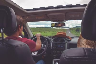 car windscreen travel sickness