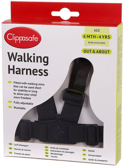 clippasafe toddler walking harness reins