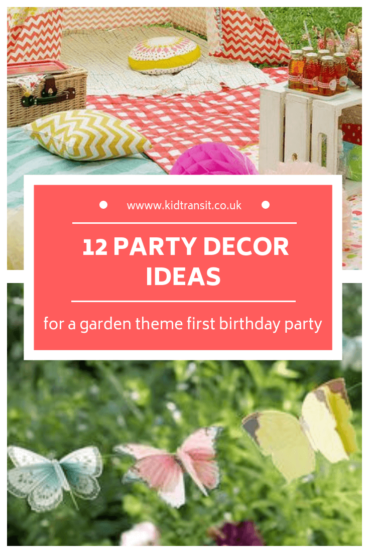 12 party decor ideas for a garden theme first birthday party