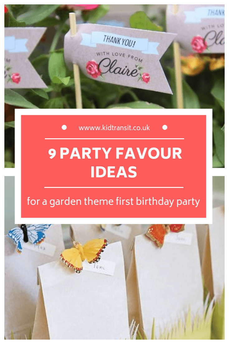 9 party favour ideas for a garden theme first birthday party