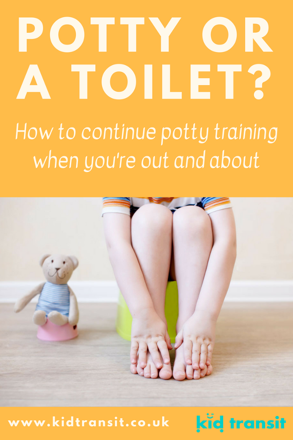 whether to use potty or toilet when out potty training