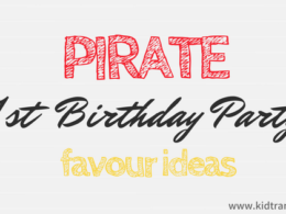 Pirate Themed First Birthday Party Favour Ideas