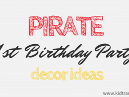 Pirate Themed First Birthday Party Decor Ideas