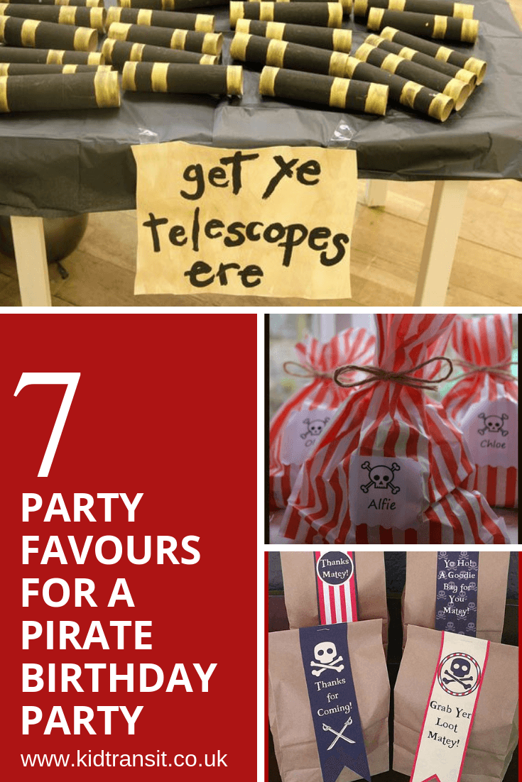 7 party favours for a pirate theme first birthday party