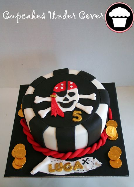 Pirate Themed First Birthday Party Cakes