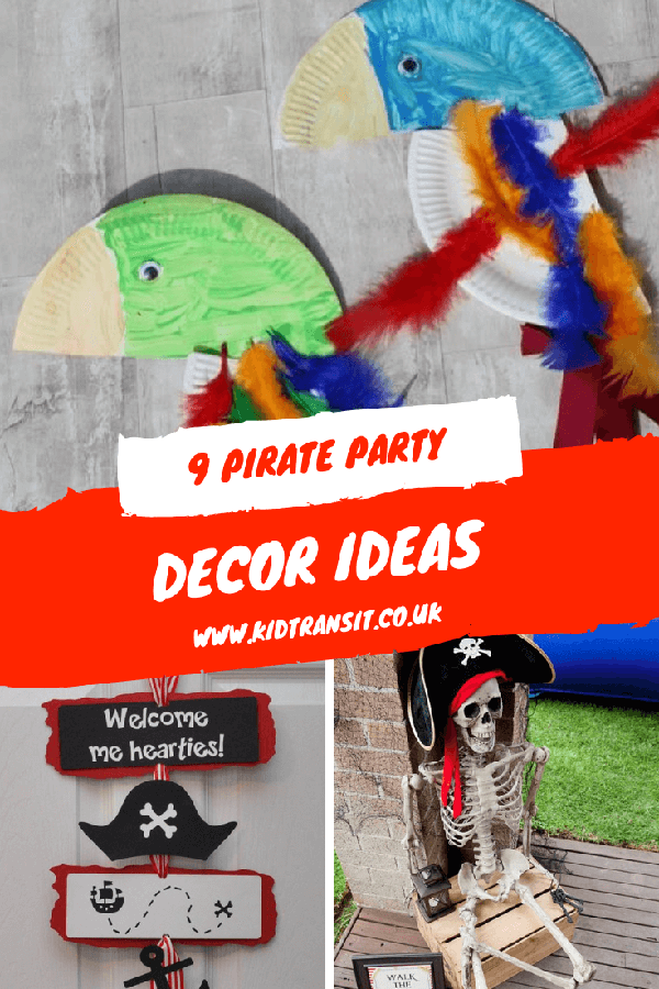 Fun decor ideas for a pirate theme first birthday party