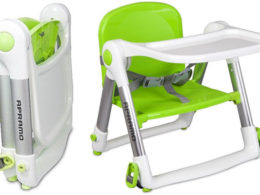 apramo flippa dining booster seat and folded