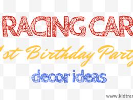 Racing Car Themed First Birthday Party Decor Ideas