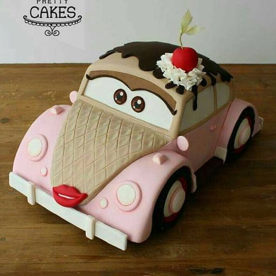 First Birthday Car Theme Cakes