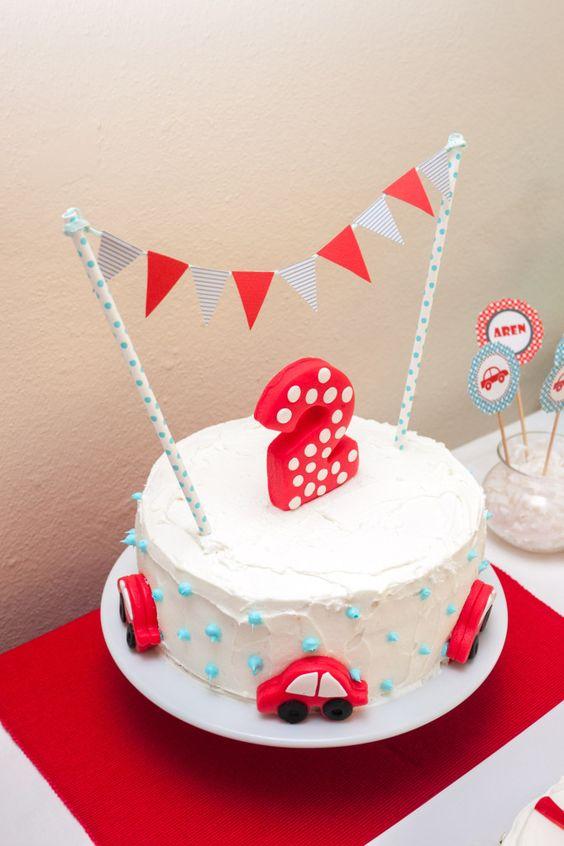 First Birthday Car Theme Cakes