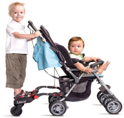 lascal maxi buggyboard on pushchair