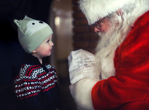 visit to santa father christmas