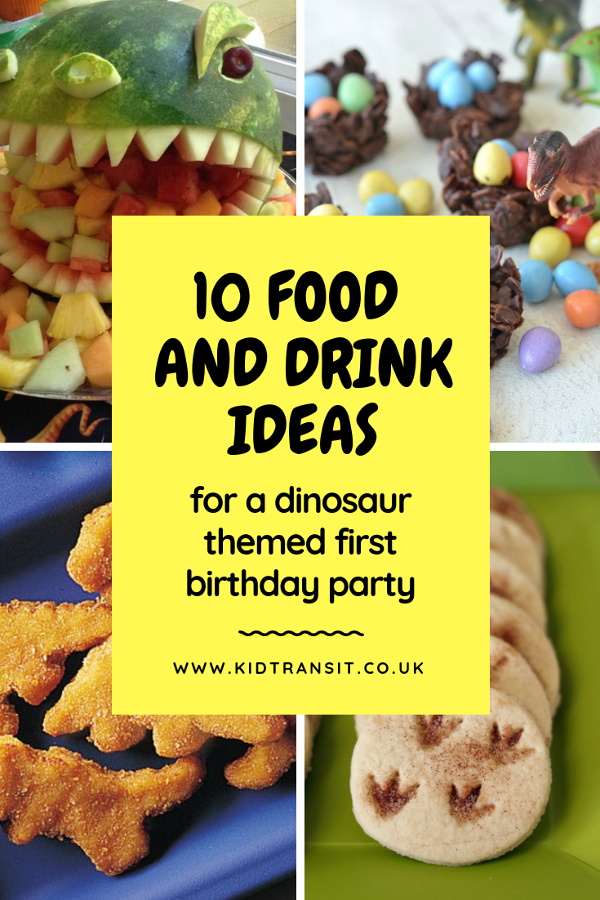 10 dinosaur theme party food and drink ideas so your child will have the best dinosaur party ever. #dinosaurparty #firstbirthday #kidsparty