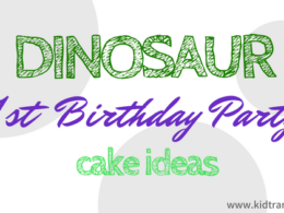 Dinosaur Themed First Birthday Cake Ideas