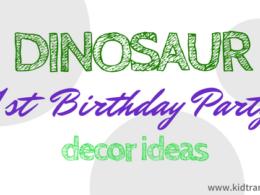 Dinosaur Themed First Birthday Party Decor Ideas
