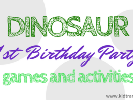 Dinosaur Themed First Birthday Games and Activities