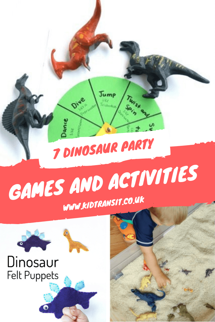 7 Dinosaur theme party games and activities for a first birthday party