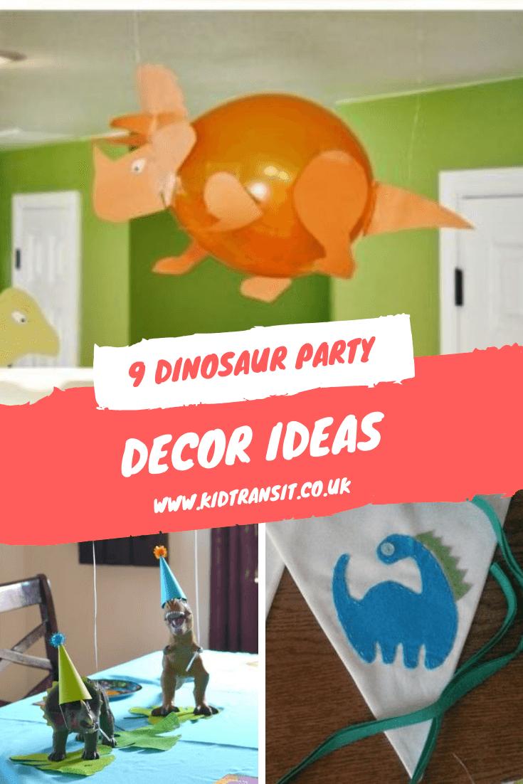 9 Dinosaur theme first birthday party decor ideas