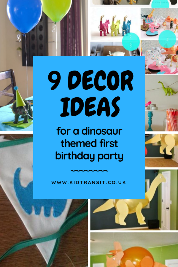 9 dinosaur party decor ideas for your child's first birthday party. #dinosaurparty #kidsparty #firstbirthday #partydecor