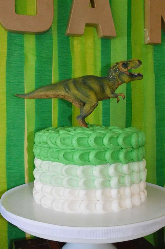 Dinosaur Theme First Birthday Cake Ideas
