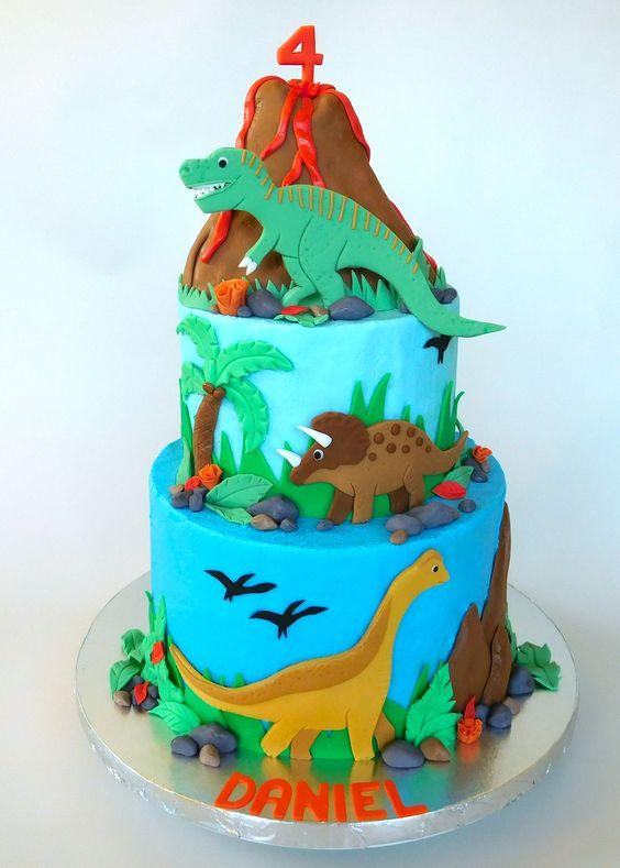 How To Decorate A Dinosaur Birthday Cake