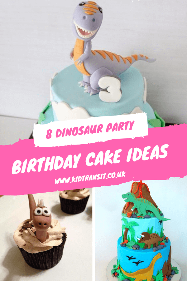 Throw the best first birthday party with these delicious dinosaur birthday cakes.