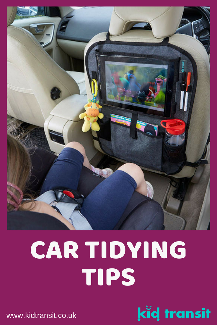 Car tidying tips and hacks to keep your car mess free and organized, especially on a road trip with kids