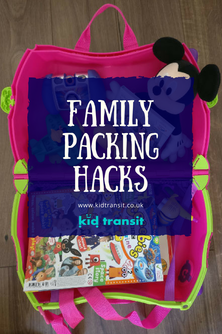 How to pack successfully for a family vacation- packing tips and hacks to get everything into your case!