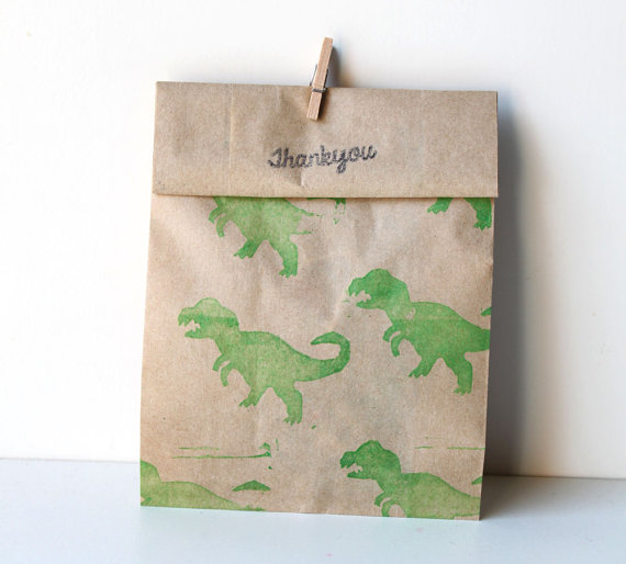 Dinosaur First Birthday Party Favours