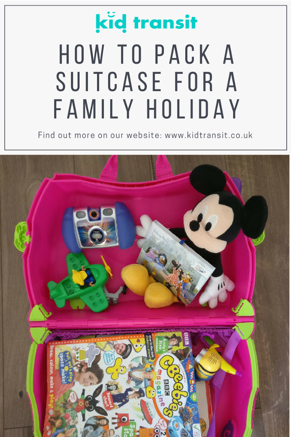pack for family holiday travel children
