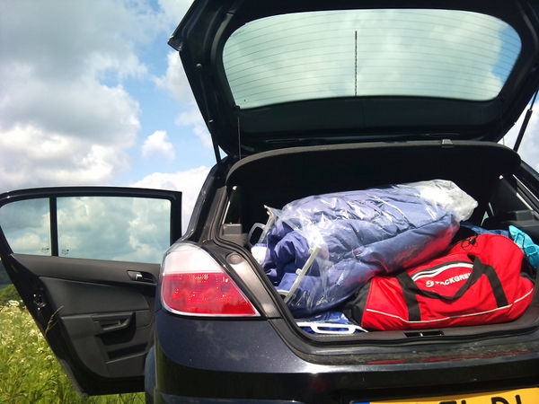 suitcase car packing holiday