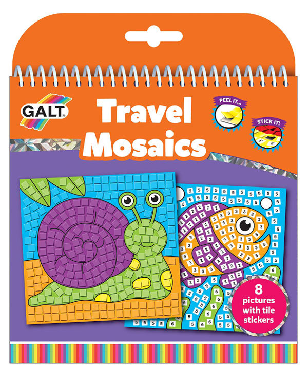 travel mosaics stickers children
