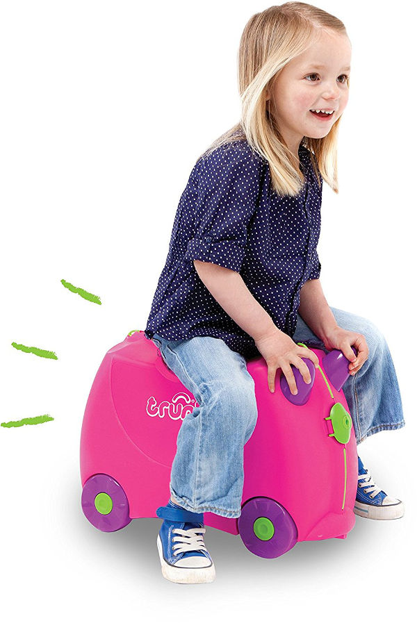 trunki ride on suitcase family holiday packing
