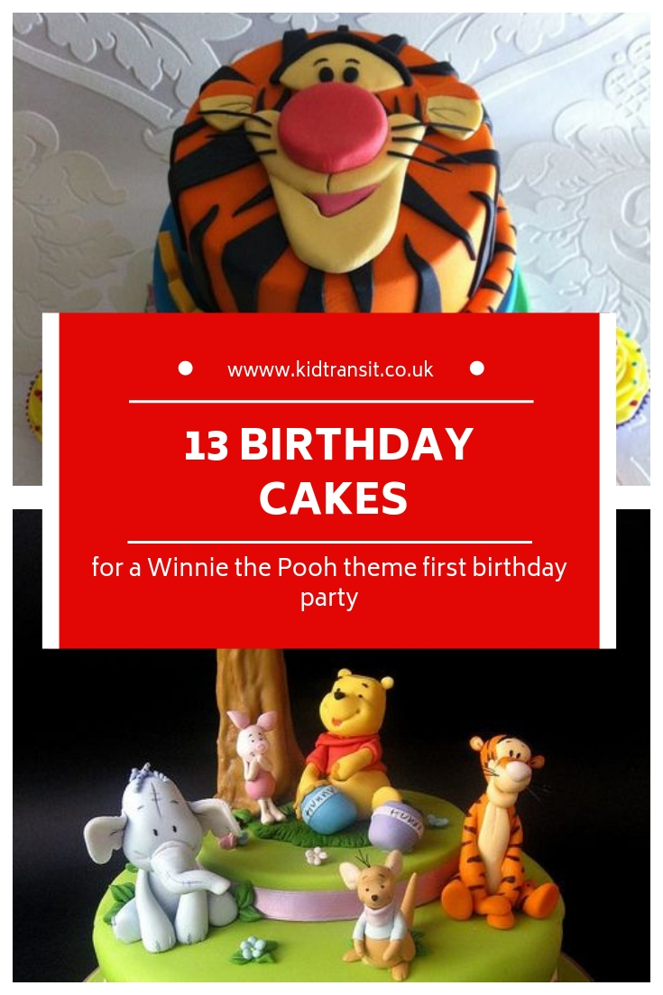 13 birthday cakes for a Winnie the Pooh first birthday party