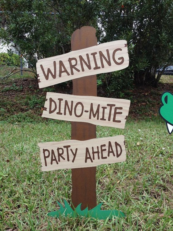 Dinosaur Theme First Birthday Decor Ideas