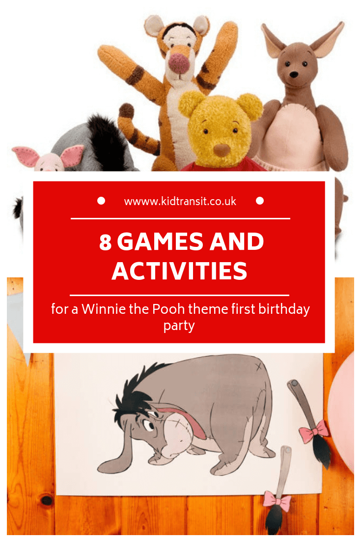 8 party games and activities for a Winnie the Pooh first birthday party