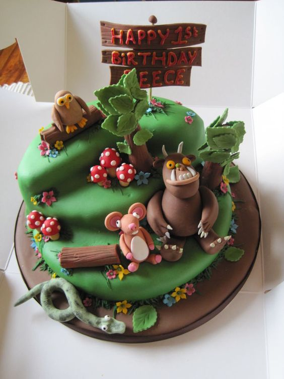 Gruffalo Themed First Birthday Cakes 2