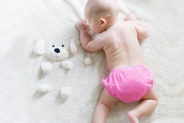 nappy rash changing baby