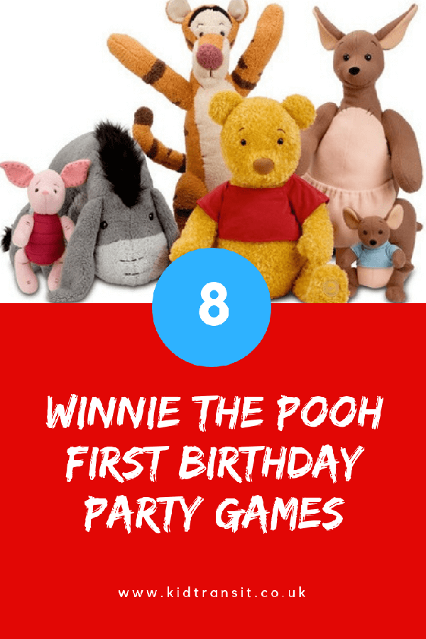 Winnie the Pooh birthday party games for a first birthday party.