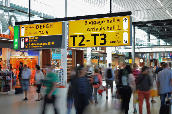 baggage hall airport flying children