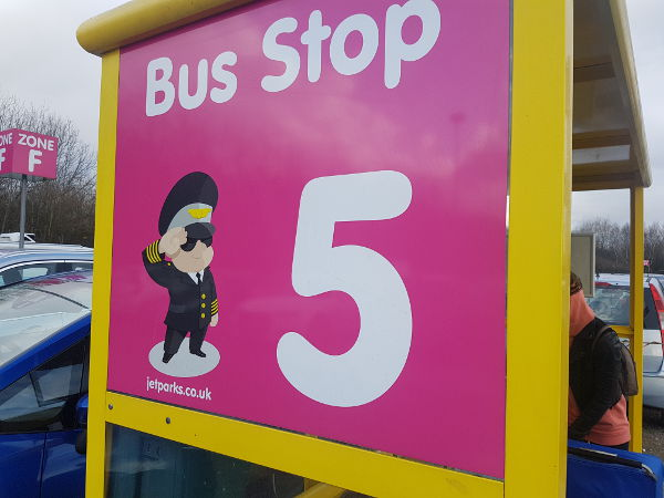 bus stop car park flying toddler