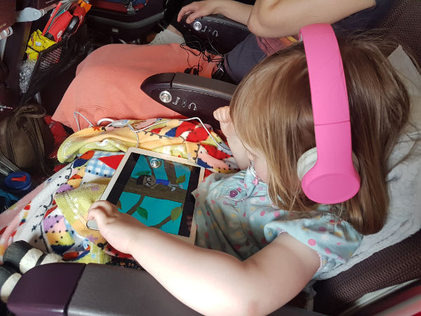 flying plane toddler ipad headphones snug play + review