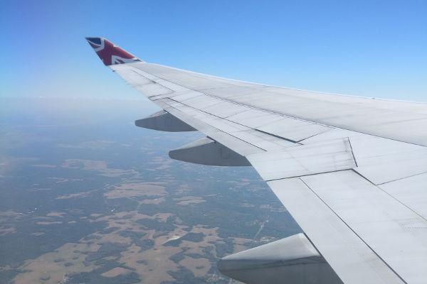 plane window flying toddler