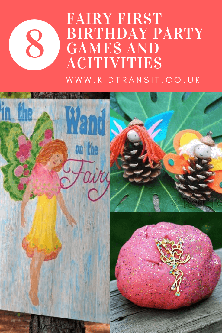 8 games and activities for a fairy theme first birthday party